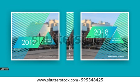 Business info card or a4 brochure cover design. Company banner frame, title sheet model set, modern vector front page art, ad flyer, text font with urban city street texture