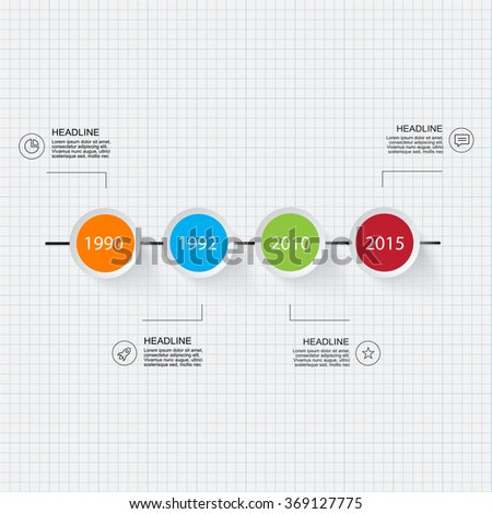 Business info graphic timeline. For your presentation flyer and brochure concept, use for marketing, website, print, presentation etc. - stock vector