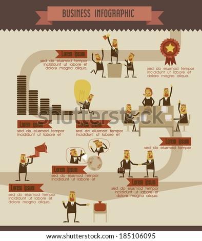 Business info graphic vector Illustrator - stock vector