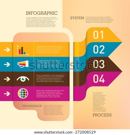 Business info graphic with modern design elements. Vector illustration. - stock vector