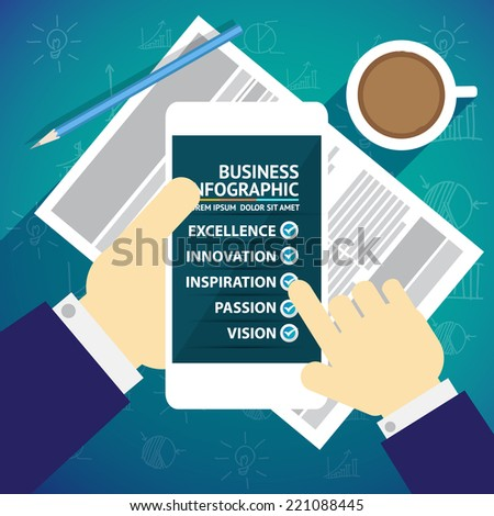 Business infographic - stock vector