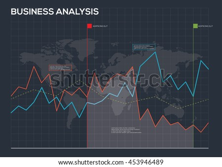 Business infographic concepts for business planning and accounting, analysis, audit, project management, marketing, research in flat design style.  - stock vector