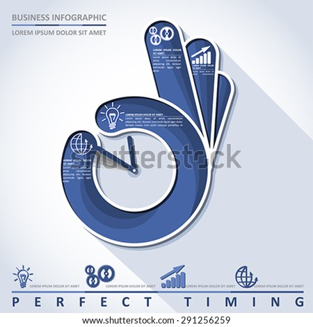 Business infographic. Perfect timing, vector - stock vector