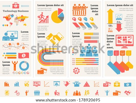 Business Infographic Template. - stock vector