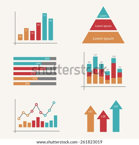 Business infographic template set. Vector illustration for cycle diagram, presentation and round chart - stock vector