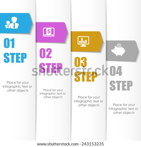 Business infographic template. Vector illustration. Can be used for workflow layout, banner, diagram, web design.