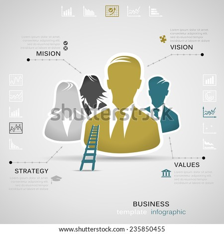 Business infographic vector illustration - stock vector