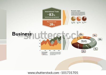 Business infographics data - graphs, charts and statistics for presentation, reports, etc. - stock vector