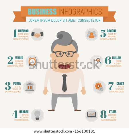 Business infographics elements , eps10 vector format - stock vector