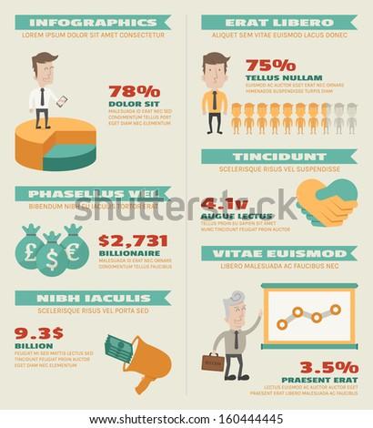 Business infographics elements , eps10 vector format - stock vector