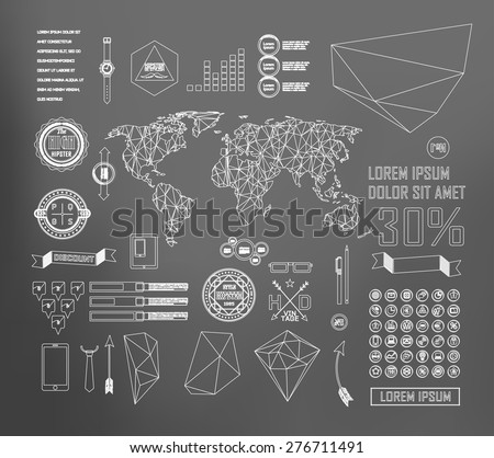 Business Infographics. Line elements can be used for workflow layout, banner, step up options,  number options,  web template - stock vector