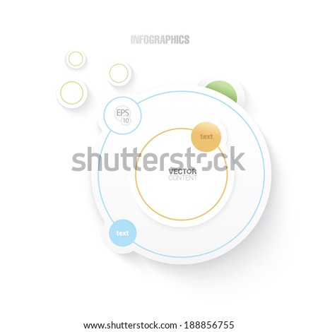 Business infographics or presentation concept set, orange, blue, yellow, and green edition.  - stock vector