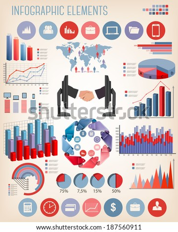 Business infographics template. Vector.  - stock vector