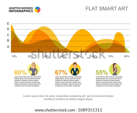Business Infographics Area Chart Character Icons Stock Vector ...