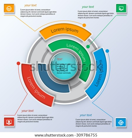 Business infographics with circle elements
