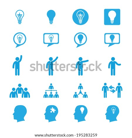 Business innovation concepts icons set - stock vector