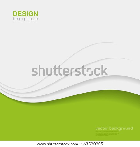 Business innovation vector design template.  Green eco style. Ecology Background abstract. Corporate identity style. - stock vector