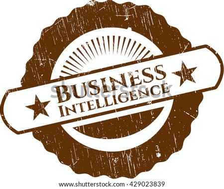 Business Intelligence grunge style stamp