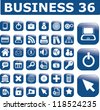 business interface, computer technology icons, buttons set, vectpr - stock vector