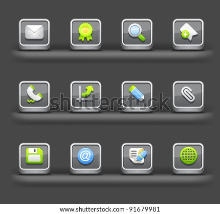 Business & Internet | Mobile devices apps icons - stock vector