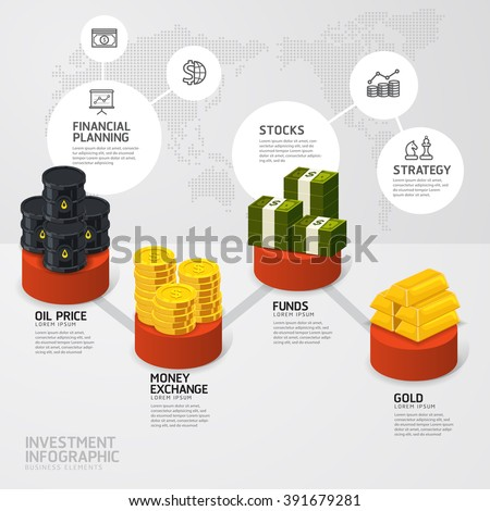 Business investment funds concept infographic step to successful,vector illustration - stock vector
