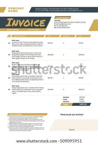 Late Invoices Pdf Download Vector Invoice Template Free  Rabitahnet Mechanics Invoice Template with Download Invoice Template Excel Excel Invoice Template Stock Images Royaltyfree Images  Vectors Invoice  Examples Samples Of An Invoice