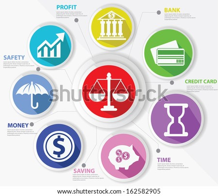 Business,Law and finance concept,Abstract,Colorful version,vector - stock vector