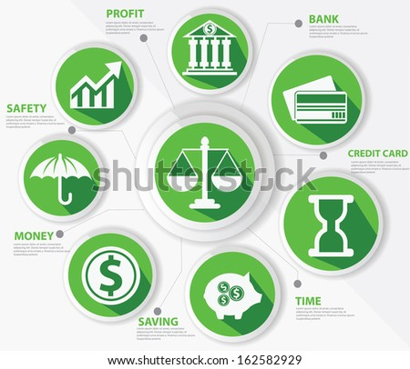 Business,Law and finance concept,Abstract,Green version,vector - stock vector