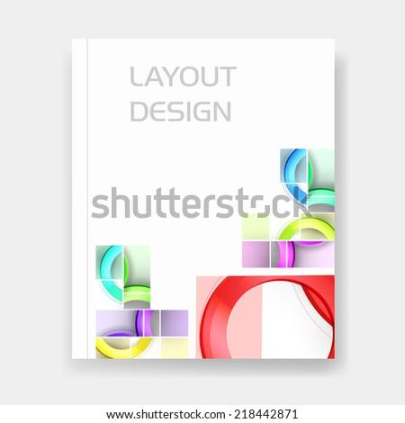 Business layout template easy all editable, easy all editable - stock vector