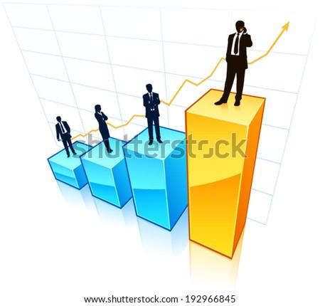 Business leadership  - stock vector