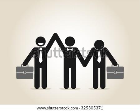 Business leadership success best employee - stock vector
