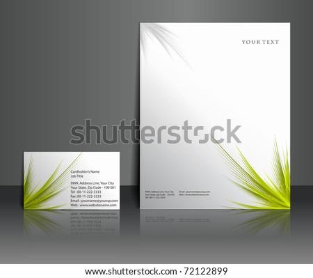 Business letterhead templates design, Vector illustration. - stock vector