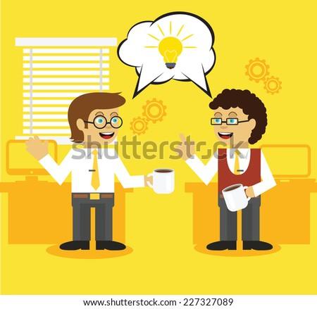 Business life. Good idea. Team management - stock vector
