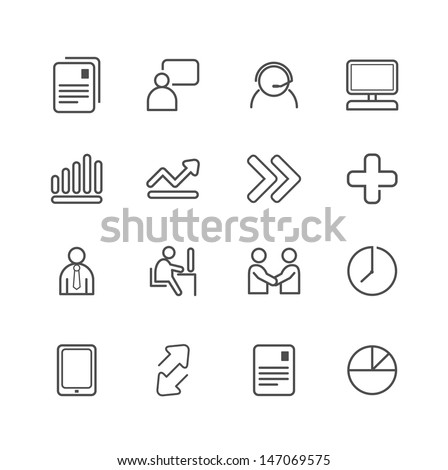 business line Icons set. Vector illustration. - stock vector