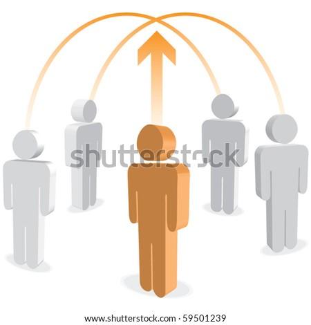 Business links vector - stock vector