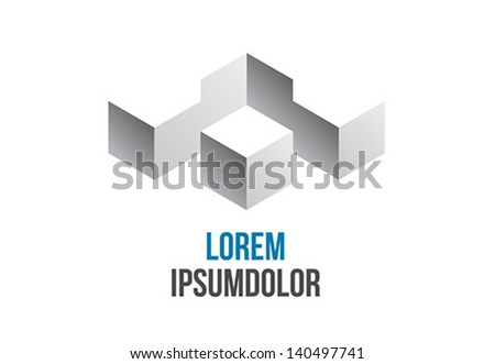 business logo abstract geometric icon design - stock vector