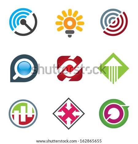 Business logo for creative and free spirited innovators in social network - stock vector