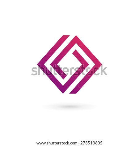 Business logo icon design template elements with letter O number 0 