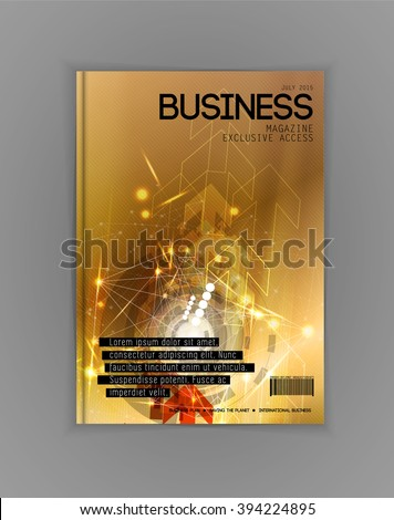 Business magazine cover, vector - stock vector