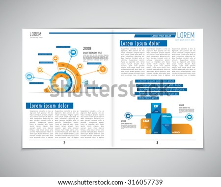 Business magazine layout , vector - stock vector