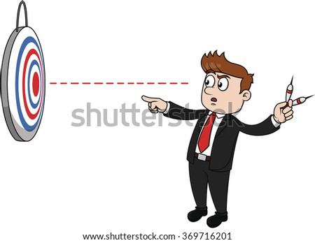 Business man aiming the target - stock vector