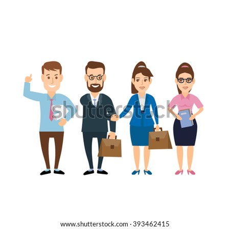 business man and business woman shaking hands closing a deal . business handshake business team concept illustration isolated on white background. - stock vector