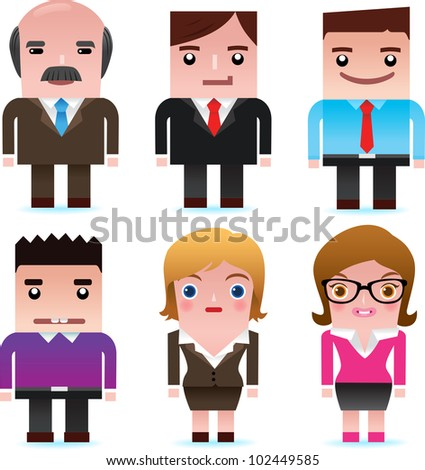 Business man and lady - stock vector