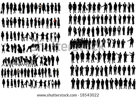 Business man and woman - stock vector