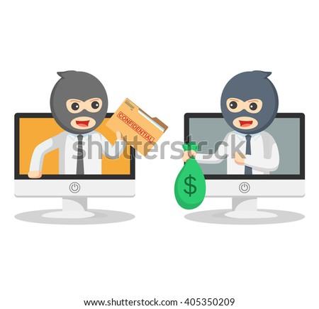 Business man bad transaction - stock vector
