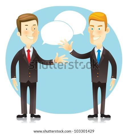 Business man. Cartoon character. Vector illustration - stock vector