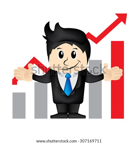 Business man cartoon character vector illustration