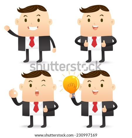 Business man character - stock vector