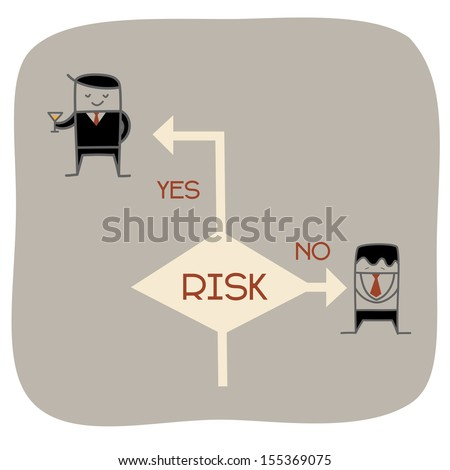 Business man choose to take a risk to be an entrepreneur or employee - stock vector