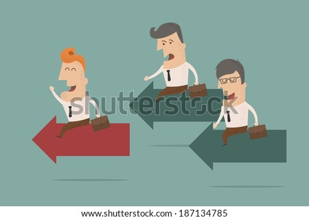 business man competition concept , eps10 vector format - stock vector